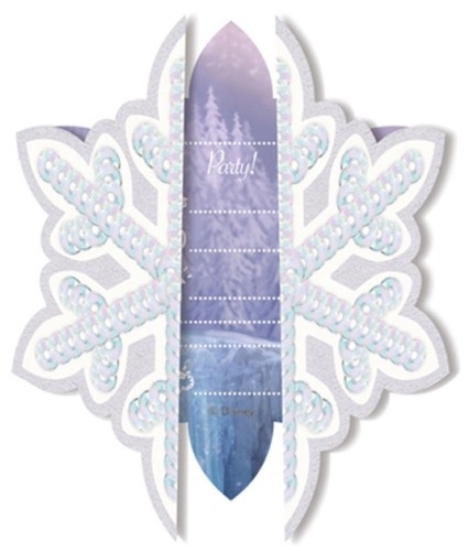 Disney Frozen Skating Uitnodigingen 6 Stuks