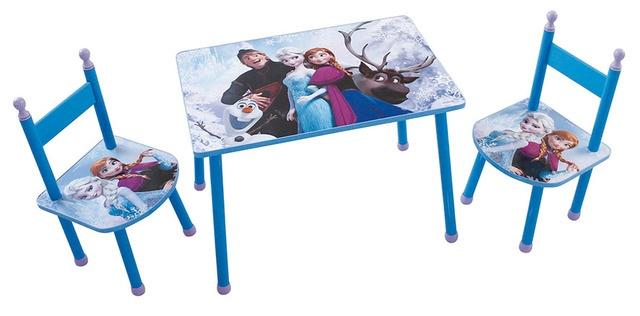Disney Frozen tafel met stoelen blauw