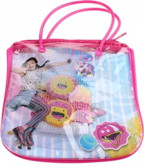 Disney giftbag met haaraccessoires Soy Luna 15 cm roze