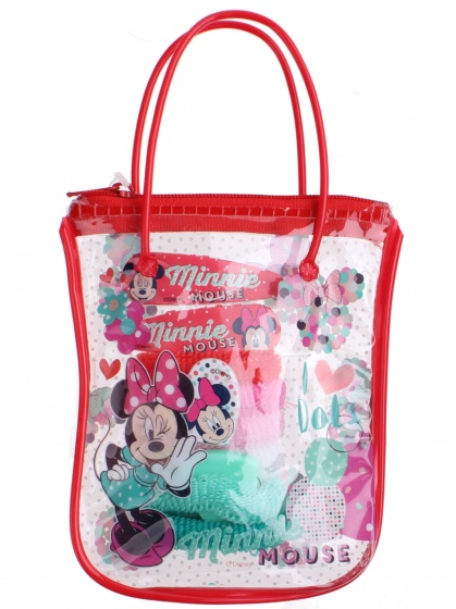 Disney giftbag Minnie Mouse 9 delig rood