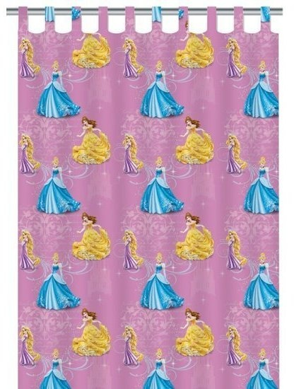 Disney Gordijn Princess: 250x140 cm
