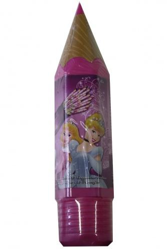 Disney Groot Potlood Gevuld Met 12 Kleurtjes Princess Roze