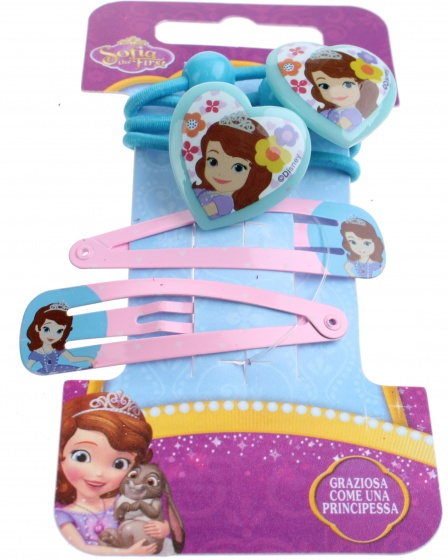 Disney haaraccessoires Sofia 4 delig roze