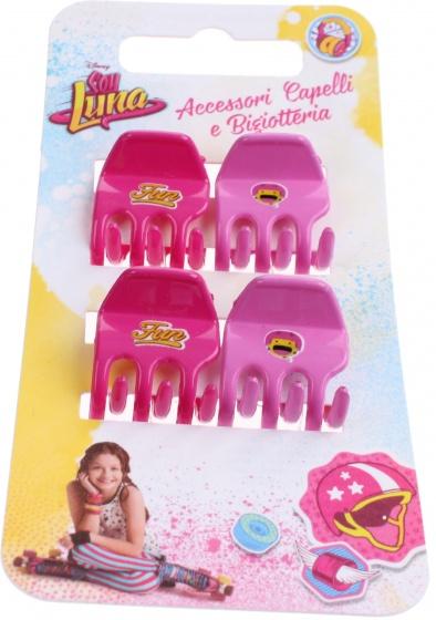 Disney haarclipjes Soy Luna 4 stuks roze/lila