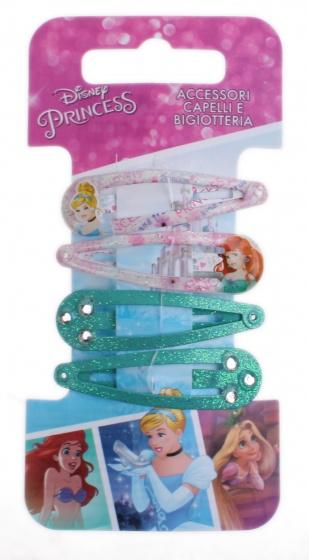 Disney haarspeldjes Princess 4 delig groen