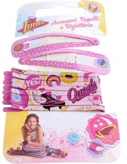 Disney haarspeldjes Soy Luna 10 delig roze
