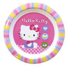 Disney Hello Kitty Bord Roze 22 cm