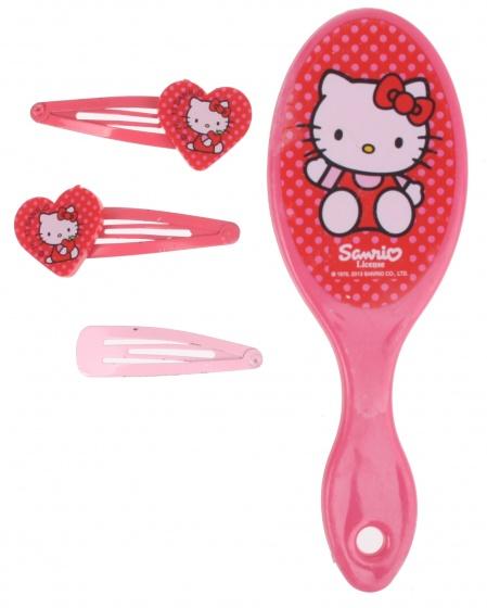 Disney Hello Kitty borstel en speldjes 5 delig roze