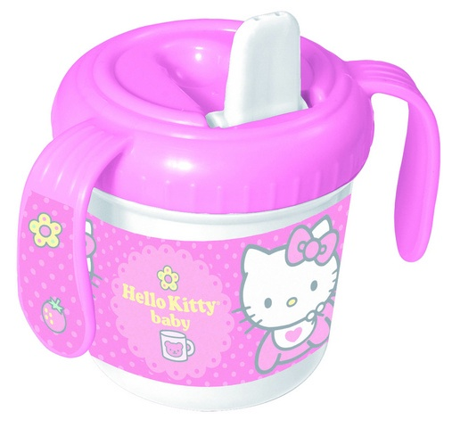 Disney Hello Kitty tuibeker baby 280 ml roze