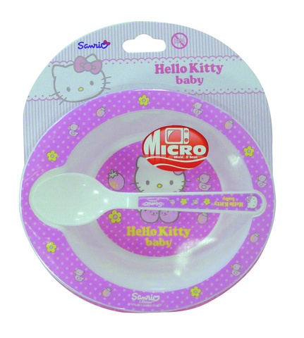 Disney Hello Kitty kom met lepel roze