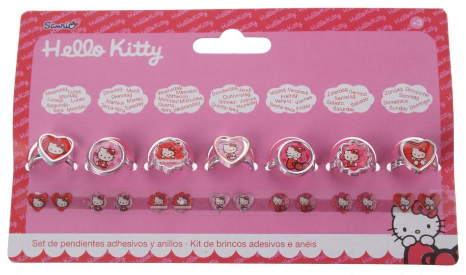 Disney Hello Kitty stickeroorbellen en ringen 14 stuks