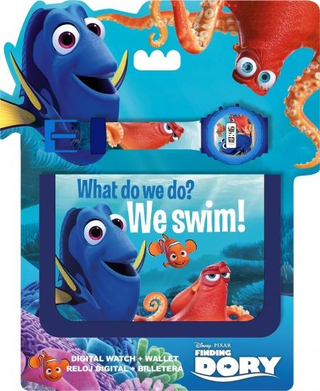 Disney Horloge En Portemonnee Finding Dory Blauw