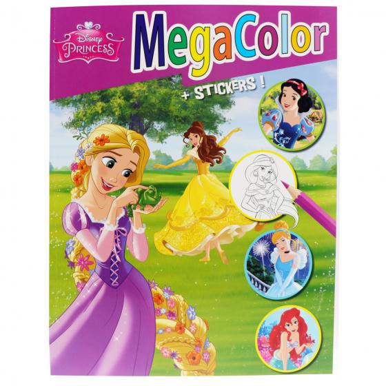 Disney kleurboek Megacolor Princess 210 x 297 mm 128 kleurplaten