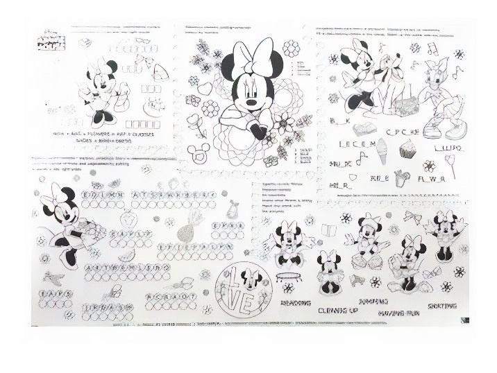 Disney kleurplaat Minnie Mouse XXL junior 70 x 100 cm papier wit (en)