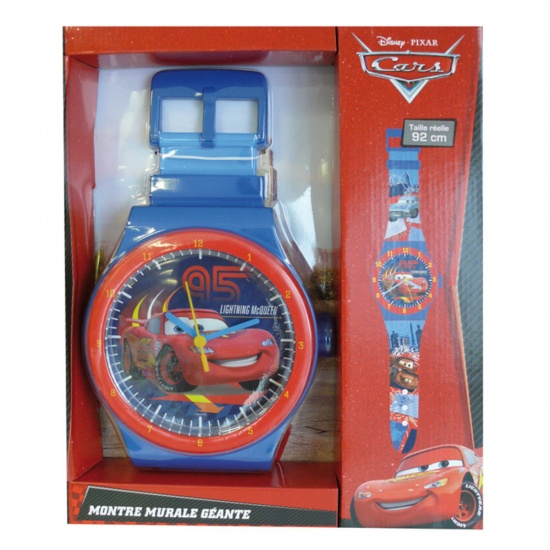 Disney Klok Horloge Cars Blauw