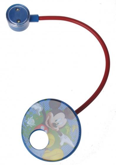 Disney Leeslamp LED Mickey Met Klem Incl 2 Batterijen Blauw