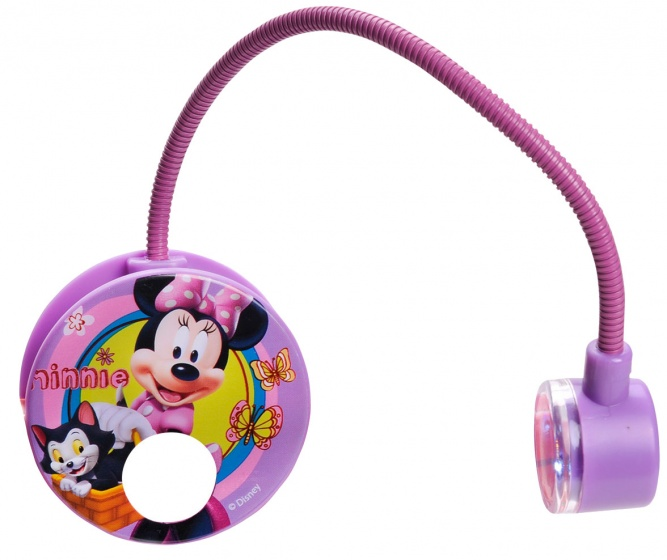 Disney Leeslamp LED Minnie Met Klem Incl 2 Batterijen Roze