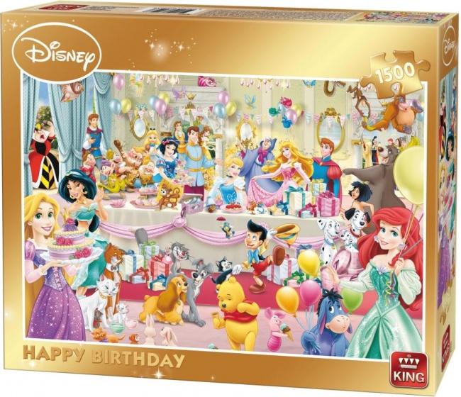 Disney legpuzzel Verjaardagsfeest 1500 stukjes
