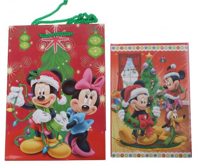 Disney Mickey en Minnie cadeautas en wenskaart 24 x 17 cm