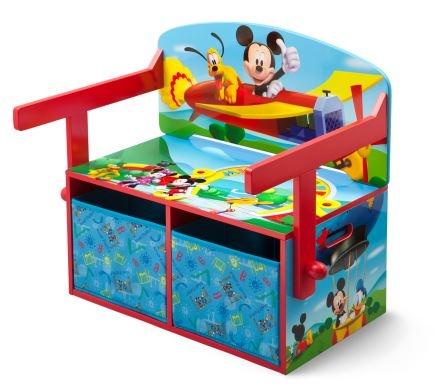 Disney Mickey Mouse 3 in 1 Opbergbank blauw 62 x 43 x 57 cm