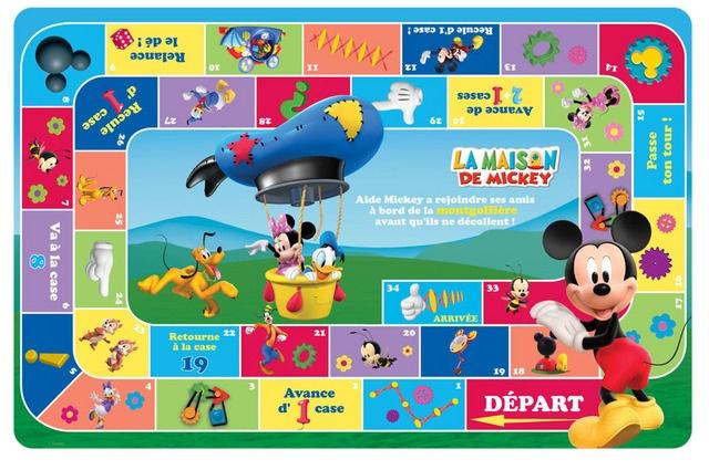 Disney Mickey Mouse La Maison bordspel/placemat 28 x 43 cm