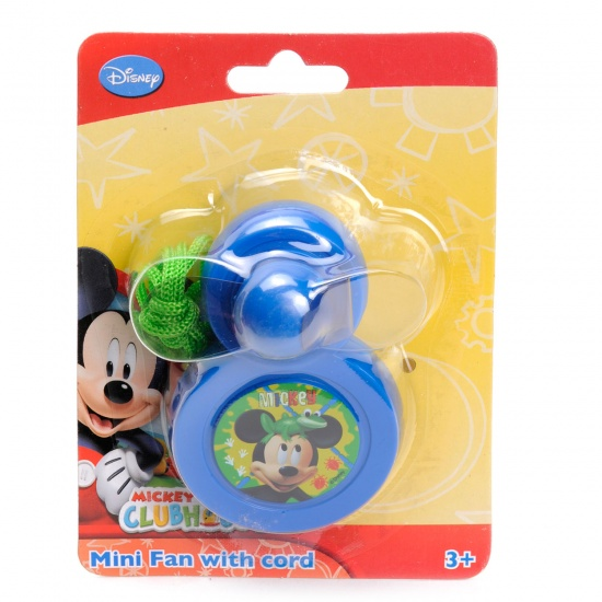 Disney Mickey Mouse Mini Ventilator blauw 9 x 6 cm