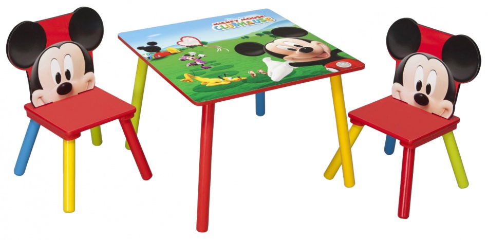 Disney Mickey Mouse Tafel en Stoelen Set