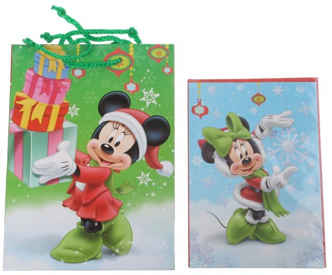 Disney Minnie Mouse cadeautas en wenskaart 24 x 17 cm