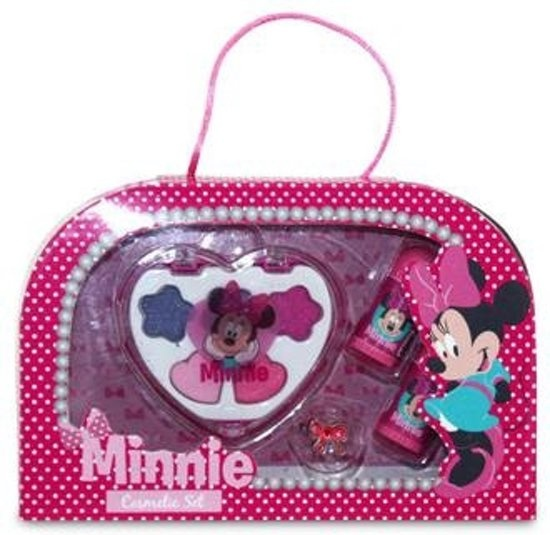 Disney Minnie Mouse cosmetica set 8 delig roze