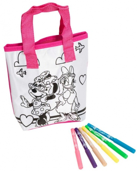 Disney Minnie Mouse kleur jouw eigen tas 7 delig