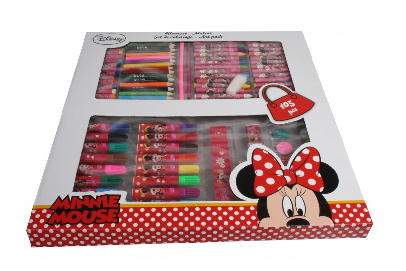 Disney Minnie Mouse Kleurset 105 delig in Vensterdoos