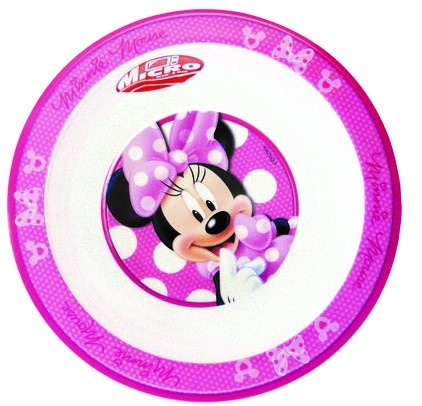 Disney Minnie Mouse Kom 16 Cm Wit/roze