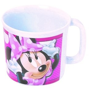 Disney Minnie Mouse mok 350 ml roze/wit