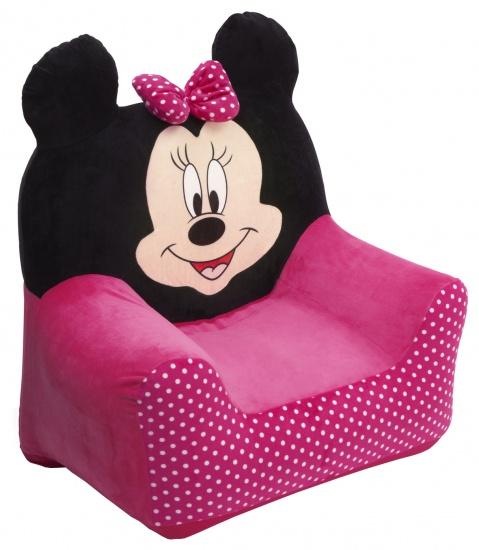 Disney Minnie Mouse Opblaasbare Stoel Roze / Zwart