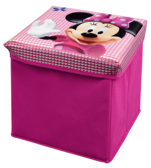 Disney Minnie Mouse Ottoman Opbergmand en Kruk Roze