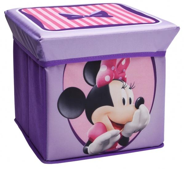 Disney Minnie Mouse Ottoman Opbergmand en Kruk Paars