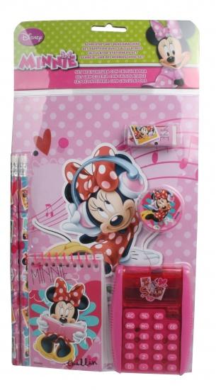 Disney Minnie Mouse Schrijfset met Rekenmachine