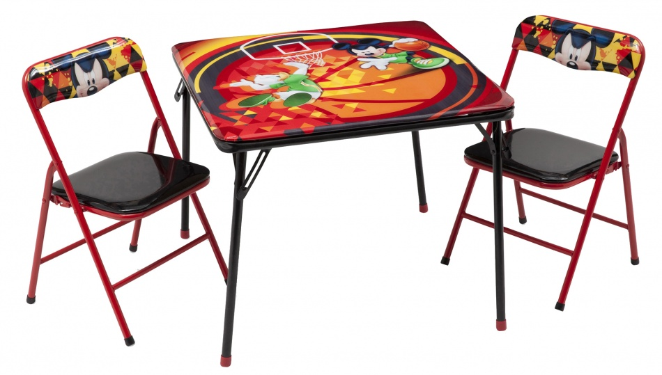 Disney Minnie Mouse Tafel met stoelen zw/ro 60 x 60 x 50 cm