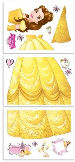 Disney Muursticker Belle 122 cm