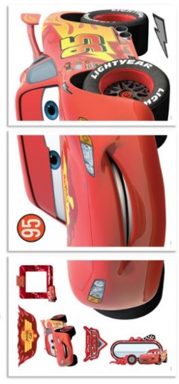 Disney Muursticker Cars 122 cm