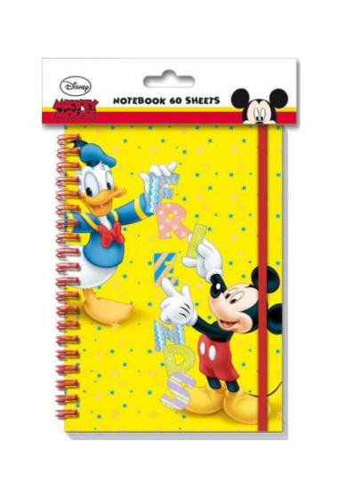 Disney notitieboekje Mickey Mouse 60 blz A5 geel
