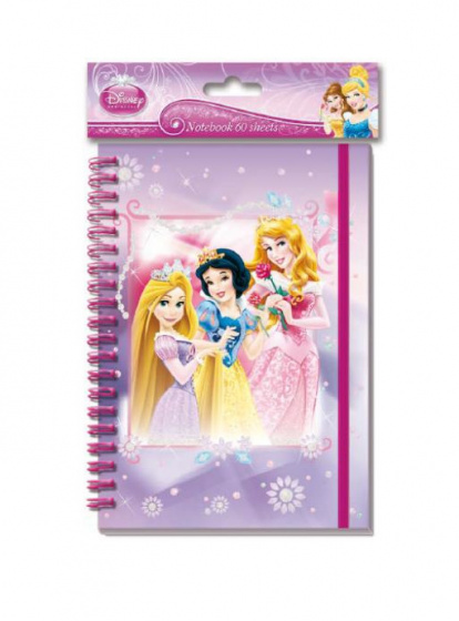 Disney notitieboekje Princess 60 blz A5 paars