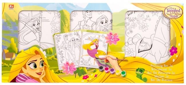Disney papier canvas schilderijtjes Tangled 3 stuks