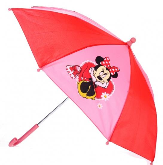 Disney Paraplu Minnie Mouse 65 cm rood/roze