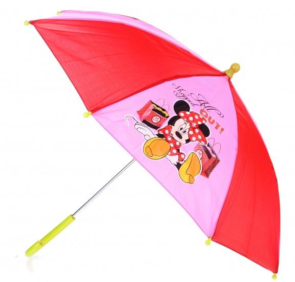 Disney Paraplu Minnie Mouse 65 cm rood/roze/groen