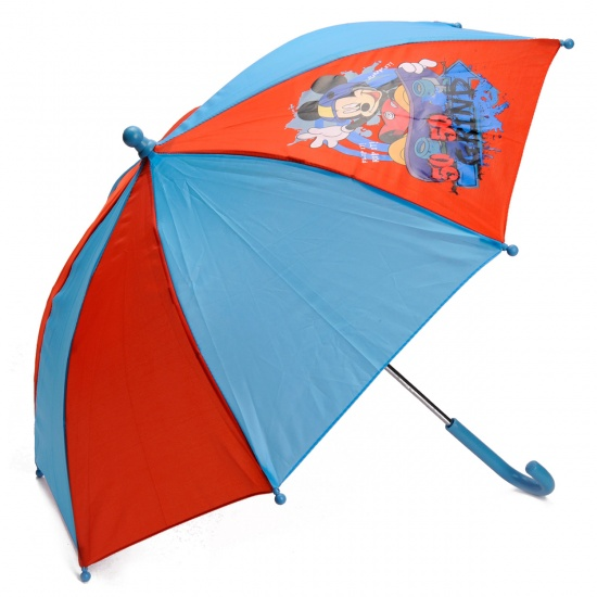 Disney Paraplu Mickey Mouse 65 cm rood/blauw