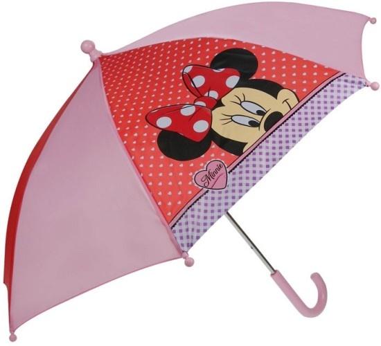 Disney Paraplu Minnie Mouse roze rood 38 cm