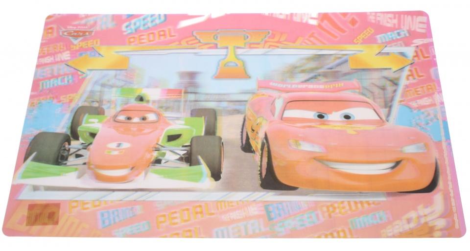 Disney placemat Cars 3D PVC 55 x 35 cm rood