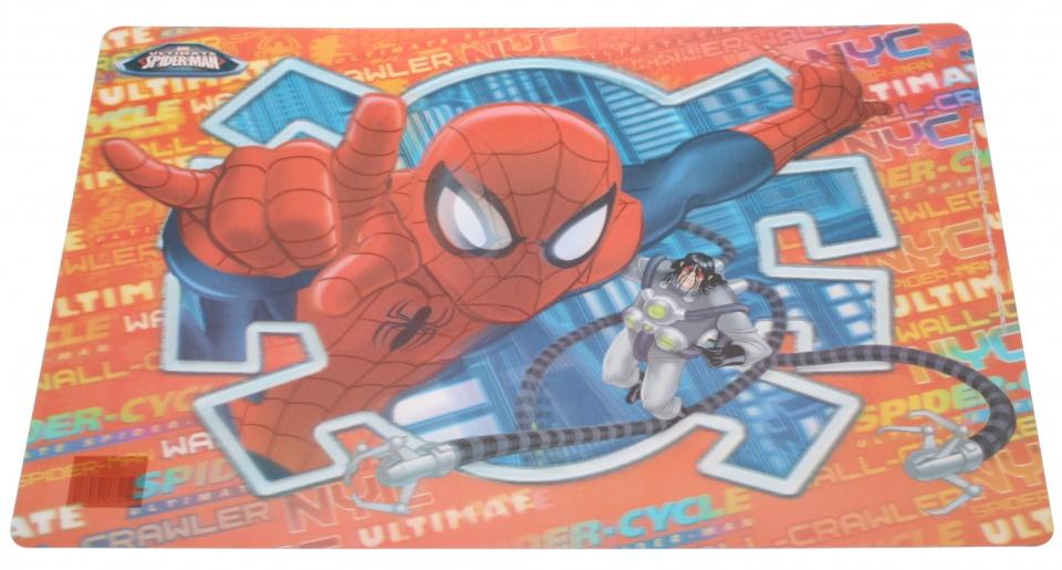 Disney placemat Spider Man 3D PVC 55 x 35 cm rood