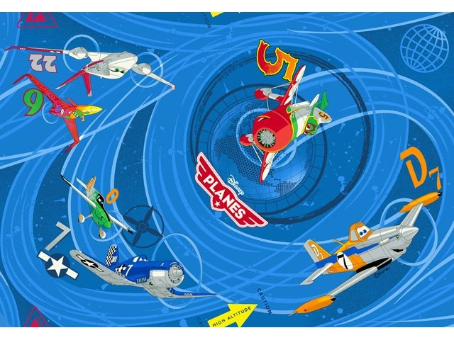 Disney Planes Speelkleed 95 X 133 cm Blue